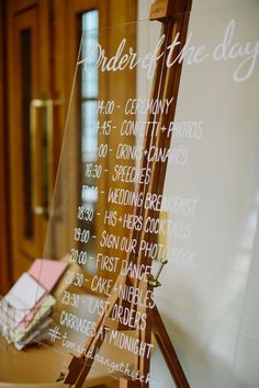 Stylish Hackney Town Hall Wedding with Copper Altar, Perspex Signs & Concrete Cake Wedding Signage, Wedding Reception Decorations, Wedding Halls, Wedding Ideas, Wedding Stuff, Wedding Inspiration, Ceremony Signs, Naming Ceremony, Hackney Town Hall