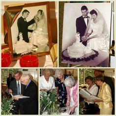 Have their wedding pics around