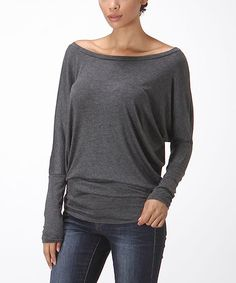 Another great find on #zulily! Charcoal Dolman Top by Bellino #zulilyfinds