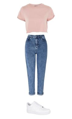 """Untitled #119"" by arcaliste on Polyvore featuring Miss Selfridge, NIKE and Topshop"