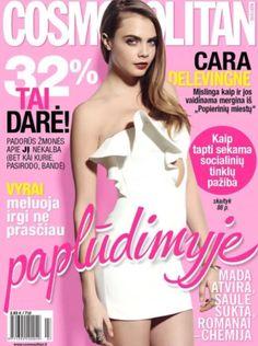 Cara Delevigne Covers Cosmopolitan Magazine ( Lithiuana ) July  2015