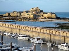 Relaxing waterfront Jersey break in St Helier Bailiwick Of Jersey, Jersey Channel Islands, Beautiful Islands, Hotels And Resorts, St Peter Port Guernsey, Places Ive Been, Britain, Visit Uk, Places To Visit