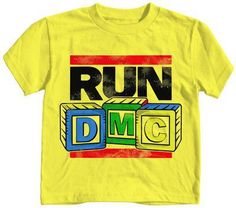 It won't be tricky getting your MC wannabe into one of these bold tees sporting the classic Run DMC logo. With alphabet-style block letters, this ode to the beginning of hip-hop is definitely playground worthy.
