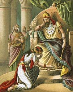 Esther beseeches king Ahasuerus to revoke his decree against the Jews by English School Story Of Esther, The Bible Movie, Bible Pictures, Ancient Civilizations, 500 Piece Puzzles, Poster Size Prints, Photo Wall Art, King, Canvas Prints