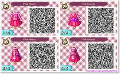 Pink Hearts dress ~ acnl qr code