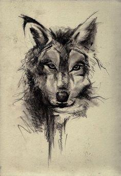 Wolf Face Sketch Art Wallpaper - Best iPhone Wallpaper #tattootips