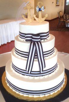 Wedding cake by Mueller's Bakery!