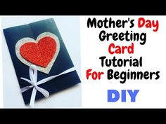 "This Video is about ""Handmade Greeting Card Making "". If you have any query while making this you can comment below anytime. Anniversary Greeting Cards, Mother's Day Greeting Cards, Greeting Cards Handmade, Simple Birthday Cards, Handmade Birthday Cards, Mother's Day Diy, Mothers Day Cards, Card Making, Youtube"