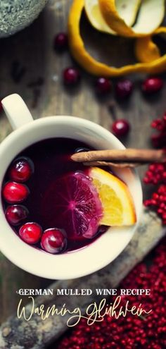 This German Mulled Wine recipe (Gluhwein) is a perfect drink to serve during the festive season. The scent of Christmas permeates the air; perfect for holiday gatherings. #germanrecipe #gluhwein #drink #cocktail #mulledwine #drinks #recipe #holidayrecipe #christmasrecipe #christmas #german #wine #cocktail