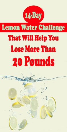 Today, we would like to present you with a lemon water challenge for weight loss. Only 14 days and you can lose your extra pounds. The results will be perfect and your body will be really thankful. water A lemon water challenge to lose weight Weight Loss Drinks, Weight Loss Tips, Water For Weight Loss, Tips On Losing Weight, Exercise For Weight Loss, Diet For Weight Loss, Smoothies For Weight Loss, Quick Weight Loss, Loosing Weight