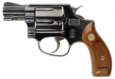 Malcolm's sidearm, a Model 36 Smith & Wesson .38. Old school.