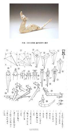 diagramme origami dragon