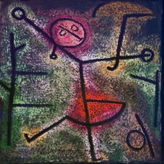 Paul Klee: Dancing Girl  1940 he used contour lines that give an effect of a girl that is dancing. he used thicker lines in the front to show the girl in a bigger shape than the background. Maya art 604