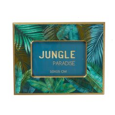 Jungle Photo Frame Home Focus, Shades Of Teal, Curtain Poles, Teal And Gold, Decorative Accessories, Tropical, Frame, Picture Frame, Frames