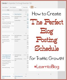 how to create the perfect blog posting schedule for traffic growth
