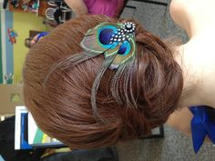 Wedding hair...with a peacock hair pin-stylist Patti Knick