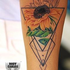 Sunflower tattoos for women aren't just for aesthetic value and artistic expression, they can also have specific interpretations and personal significance behind them. Explore the meanings behind sunflower tattoos here and see beautiful examples. Sunflower Tattoo Simple, Sunflower Tattoo Sleeve, Sunflower Tattoo Shoulder, Sunflower Tattoos, Sunflower Tattoo Design, Flower Tattoo Designs, Watercolor Sunflower Tattoo, Watercolor Tattoos, Abstract Watercolor
