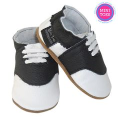 Perfect for anna! Hand Made Soft sole leather saddle shoes soft leather by minitoes Black And White Baby, Saddle Shoes, Babies Stuff, Soft Leather, Baby Shoes, Trending Outfits, Mini, Unique Jewelry, Handmade Gifts