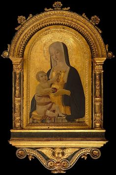 Benvenuto di Giovanni, Madonna and Child, c. 1470, tempera and gold on wood | Sacred Art