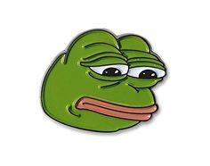 Sad Pepe Lapel Pin MemePinz http://www.amazon.com/dp/B00YWSNUO4/ref=cm_sw_r_pi_dp_xwXEwb0Y0MVH6