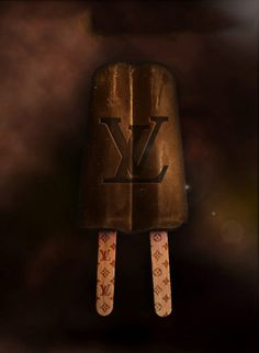 Louis Vuitton Ice Cream Pop by The Glam Foodie #logo #fashion #art #parody - Carefully selected by GORGONIA www.gorgonia.it