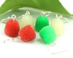 Peppermint Christmas Earrings Candy Swirl