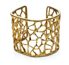 "triangle cuff  Brass  LENGTH: 6.5"" around  HEIGHT: 2""  Please allow 1-2 weeks for delivery. by Natalie Frigo"