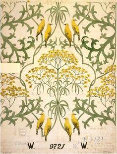 Bird Pattern Design William Morris 19 Ideas For 2019 Bird Patterns, Textile Patterns, Print Patterns, Textiles, William Morris, Surface Pattern Design, Pattern Art, Bird Wallpaper, Antique Wallpaper