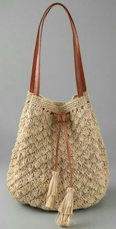 Another great crochet idea. Learn to crochet at Jennys Sewing Studio. scontent-b-iad.Different knitting bag models, knitting bag models for lovers … - Diy And Craft Create a top portion with straps, then crochet over or sew toVery pretty purse. Crochet Diy, Crochet Tote, Crochet Handbags, Crochet Purses, Learn To Crochet, Crochet Crafts, Net Bag, Macrame Bag, Purse Patterns