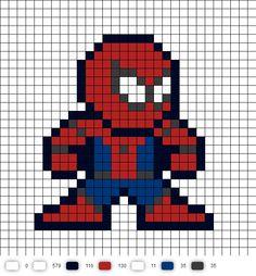 Spider-Man Civil War Perler Bead Pattern