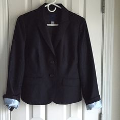 J.Crew Super 120 Wool Navy Blazer 2 button closure, looks smart with jeans, dress pants or pencil skirt.  Never worn, perfect condition. Lined with light blue silk. J. Crew Jackets & Coats Blazers