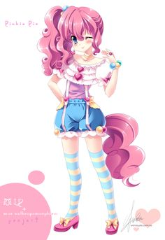 [MLP]Pinkie Pie of moe anthropomorphism by SakuranoRuu.deviantart.com on @deviantART