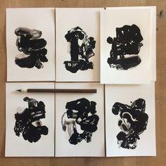Ink paintings - abstract art contemporary paintings olivier umecker Ink Paintings, Art Sketchbook, Contemporary Paintings, Art Pictures, Art Inspo, Abstract Art, Illustration Art, Creative, Inspiration