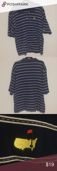 Masters XXL Blue Striped Polo Shirt Shirt is in like new condition worn only a few times. No stains or damage. Masters Shirts Polos
