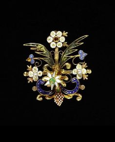 Ornament. Gold, enamel, pearl. Europe circa  -  1600.