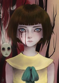 The awesome indie horror game Fran Bow Coraline, Illustrations, Illustration Art, Creepy Games, Bow Art, Little Misfortune, Mad Father, Rpg Horror Games, Witch House