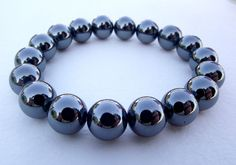 Black Hematite bracelet for love and peace by by EvasJewellery, $16.00