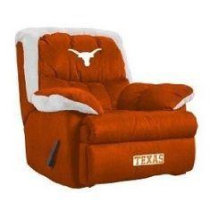 Texas Longhorns Recliner - Looks very comfy! Texas Longhorns Football, Ut Longhorns, Football Team, Eyes Of Texas, Hook Em Horns, Texas Pride, University Of Texas, Texas Homes, Home Team
