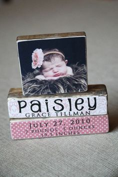 DIY Photo blocks... awesome idea! wouldn't wedding picture with names and date below be beautiful. Love this idea for children too amazing potential for any picture.: