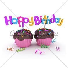 Birthday Cupcakes · GL Stock Images