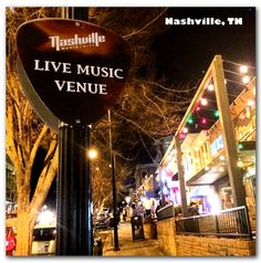 "Nashville Photo Magnet - ""Music City"" Sign"