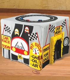 race car fort card table pattern from joann.com