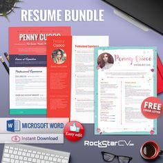 Teacher Resume Template Bundle by Resume Templates on Creative Market