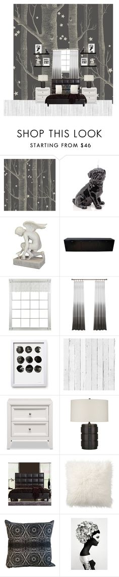 """Black And White"" by red-black-grey on Polyvore featuring interior, interiors, interior design, home, home decor, interior decorating, Cole & Son, Wiedemann Candles, NLXL and Tribecca Home"