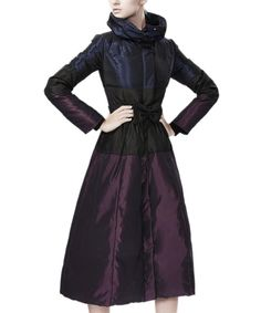 4P Rainbow Women Long Belted Fuax Fur Hooded High Qulity Down