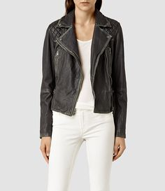 ALLSAINTS: Women's leather jacket and leather trouser collection