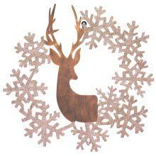 Deer & Snowflake Wreath