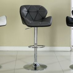 Reza Adjustable Height Swivel Bar Stool with Cushion