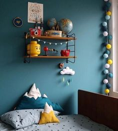 A room perfectly designed for a child full of life and fun found its bold colour match in #FarrowandBall #Vardo, a vibrant yet versatile hue. ( @jesussauvage)