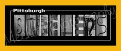 Steelers Football Alphabet Photo Collage